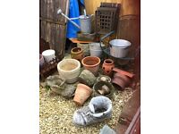 assorted planters, stone, concrete, terracotta etc...prices from £10