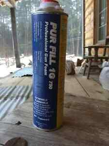 Cans of insulating foam sealant