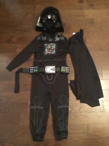 DARTH VADER COSTUME WITH MASK.  Child, size 4-6