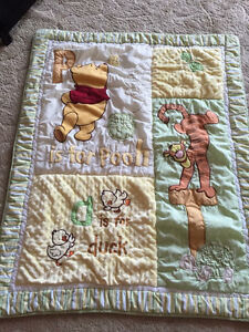 """""""P"""" is for Pooh Crib Bedding"""