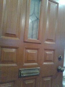 Entrance Doors Outdoor Insulated Brown Metal-Screendoor 36x84