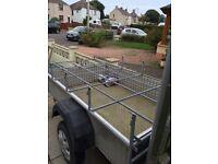 Land Rover defender 110 Roof Rack with ladder galvanised