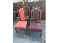 SET OF 4 WOOD DINING CHAIRS SHABBY CHIC PROJECT ** FREE DELIVERY AVAILABLE **