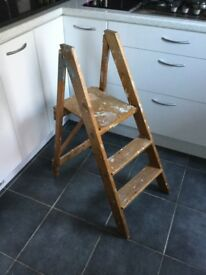 Small folding wooden decorating steps