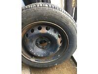 Tyre with wheel 175x75x14 good tread free