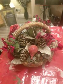 Christmas decorative basket