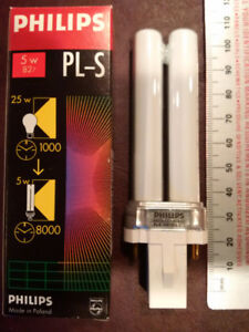 Philips Pl-s 5w/827/2p 2 Pin Light Bulb $2 each or $30 for 20