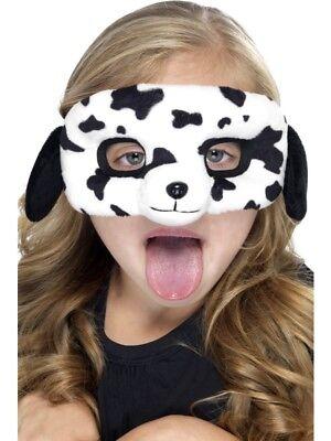Hundemaske Kinder Tiermaske Hund Dalmatiner Maske Augenmaske Plüsch Kinderkostüm