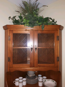 Solid maple  Corner hutch made by Roxton