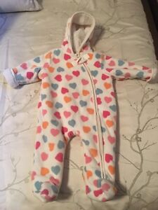 Girl's 6-12 Month Winter Suit/Bunting Bag