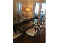 Classic Glass Dining Table 4 Chairs & 2 Carvers