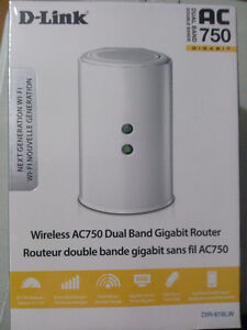 D-Link DIR-Wireless AC750 Dual Band Gigabit Router (SEALED NEW)