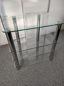 Glass TV Stand 60cm