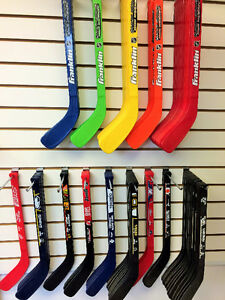 Franklin Mini Hockey Sticks - SALE - 2 for $10.  Many NHL teams!