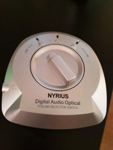 Nyrius Toslink digital audio Optical 3-way selector switch