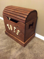 Solid Pine Dog Toy Chest Handcrafted in Ontario!