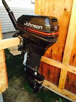 Selling my 1996 Johnson 15hp short shaft with gas tank and hose