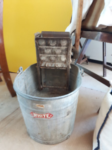 Vintage -White- washing bucket