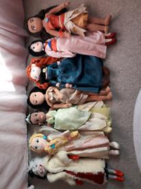 Disney princess soft dolls
