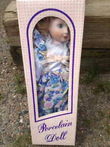 Porcelain doll in the original box