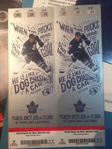 Toronto Maple Leafs vs Tampa Bay Lightning Oct 25