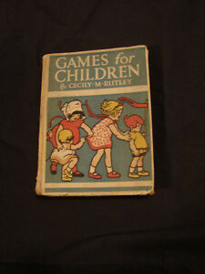 "antique 1928 collectible ""Games For Children"""