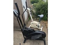 For sale cross trainer and exercise bike £90ono