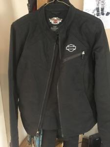Harley nylon jacket ladies medium
