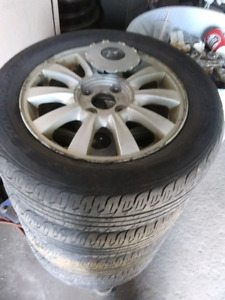 4 x tires on rim for hyundai sonata 2003, 2004