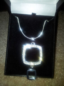 Beautiful Two Tier Square designer necklace $1525.00 value London Ontario image 2