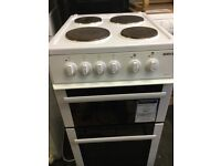 Beko white 50cm wide electric cooker grill and oven