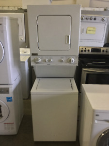 "Kenmore White Front Load 27"" Washer and Dryer"