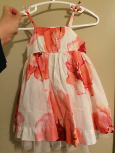 Baby Gap pink and white flowers dress 3-6 months summer dress