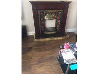Brass fireplace