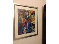 "Framed & mounted print of ""La Bodeguita deal Medio"" by S Toranzo"