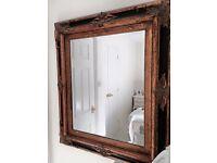 Vintage mirror gold gilt frame .