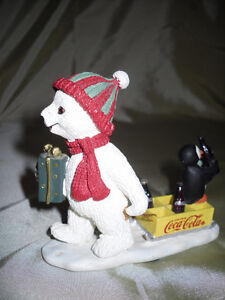 Coca-Cola Polar Bear cub figurine