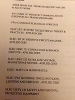 NEED 1st year electrician books.