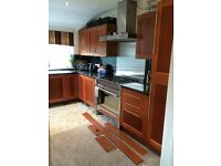 Kitchen for sale including built-in fridge, sink and dishwasher