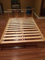 Child double bed with nightstand/mattress