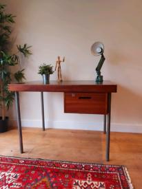 Vintage mid century 1970's industrial desk