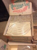 Vintage Crystal Snack Sets