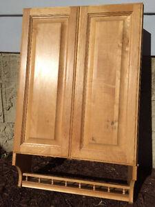 Honey Oak Over-John Cabinet