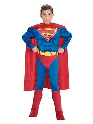 Kid Costumes For Boys (Deluxe Superman Muscle Chest Child Toddler & Boys)