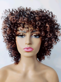 FREE DELIVERY BROWN AFRO SYNTHETIC WIG NEW