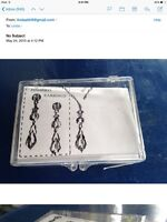 Beading kit for black crystal necklace and matching earrings.