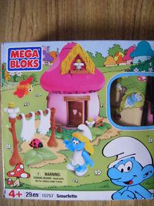 Smurfs mega bloks for sale