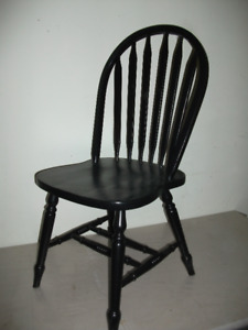 One black wood kitchen chair $35.We are in Martensville and can
