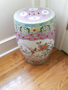 Antique Porcelain Garden Stool or Seat