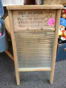 Antique Washboard The Jasper Made by Western Broom Prince George British Columbia image 1
